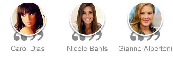 Carol Dias - Nicole Bahls - Gianne Albertoni