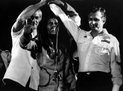 Show de Bob Marley no Estádio Nacional de Kingston em 22-04-1978