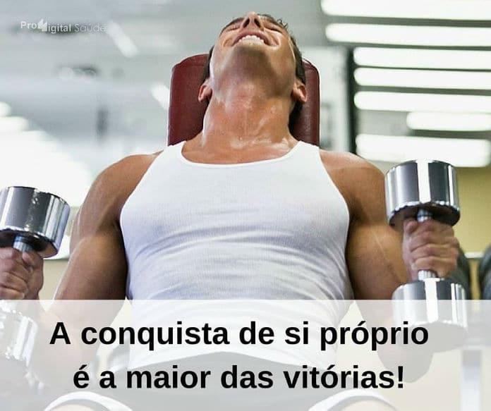 A conquista de si próprio é a maior das vitórias! - frases de incentivo