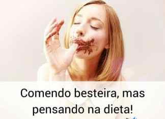 Comendo besteira, mas pensando na dieta. - frases de incentivo