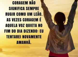 Frases de motivação - Coragem é aquela voz quieta.