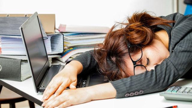 dormindo no trabalho