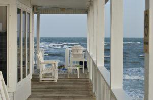 California beach house view
