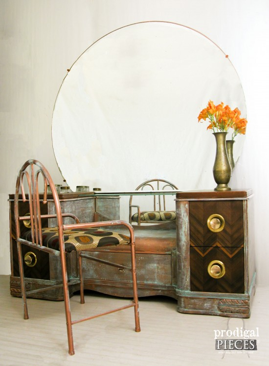 art deco dressing table goes industrial