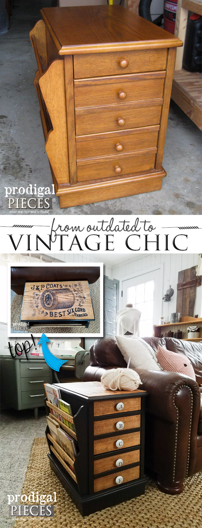 Sewing Table With Vintage Chic Vibe Prodigal Pieces