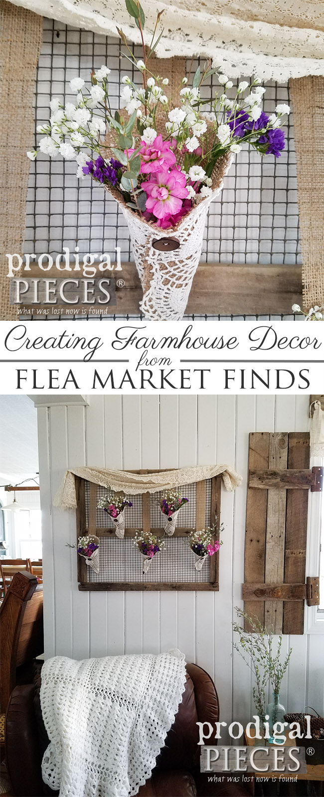 Rustic Farmhouse Wall Art From Flea Market Finds Prodigal Pieces