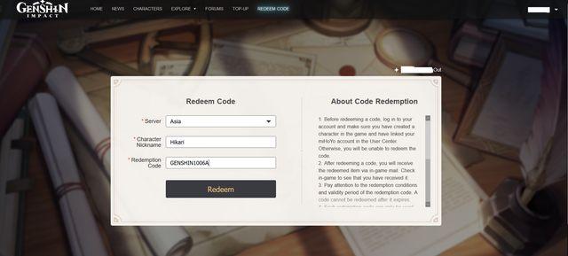 Genshin Impact redeem working codes to get free primogems ...