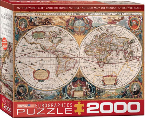 Antique World Map 2000 PC   628136119979   Item   Barnes   Noble     Antique World Map 2000 PC
