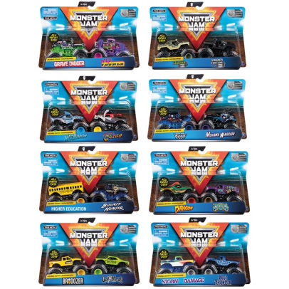 monster jam 1 to 64 scale vehicle 2 pack assorted styles vary
