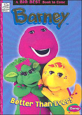 Barney Better Than Ever By Dalmatian Press Coloring Book