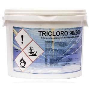 Tricloro Pastiglie 90/200 Disinfezione Acque Piscina
