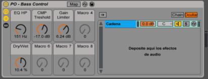 Audio Effect Rack de Ableton Live Bass Control