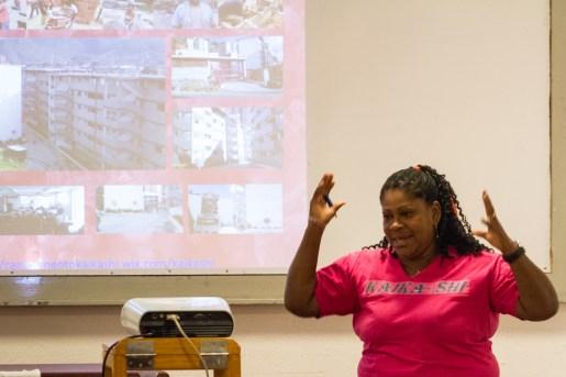 Mariela Machado, activista del campamento de Pioneros Kaika Shi