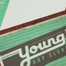 Young's Dry Cleaning Promotional Card