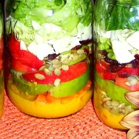 Apple-a-Day Mason Jar Salad with Pumpkin Vinaigrette