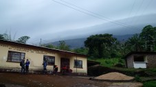 Prep hut before climbing Mount Cameroon