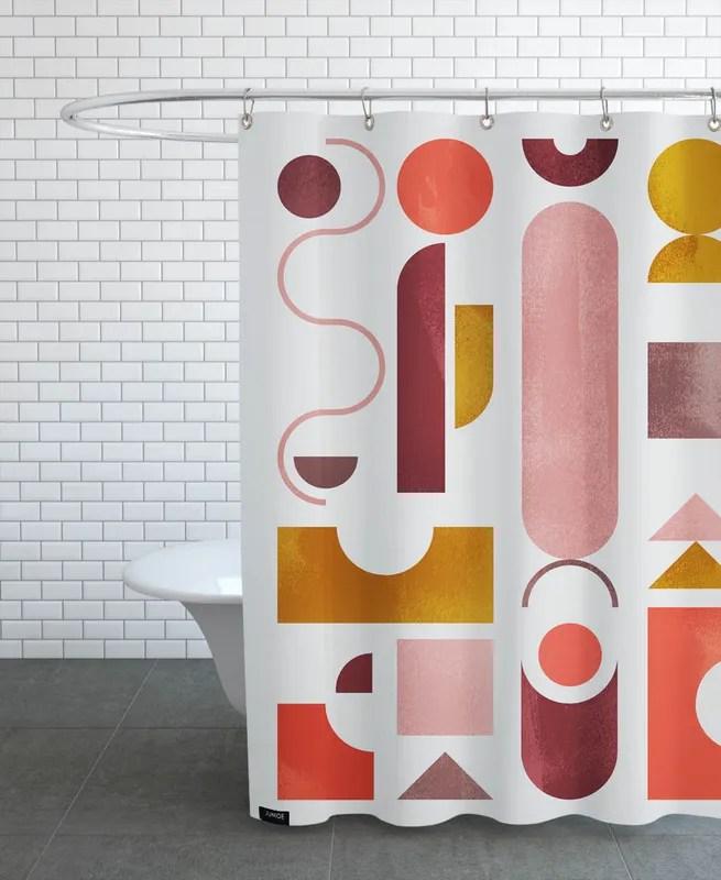 geometric shapes 2 shower curtain