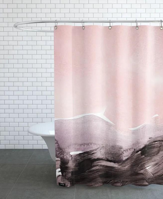 blush mauve shower curtain