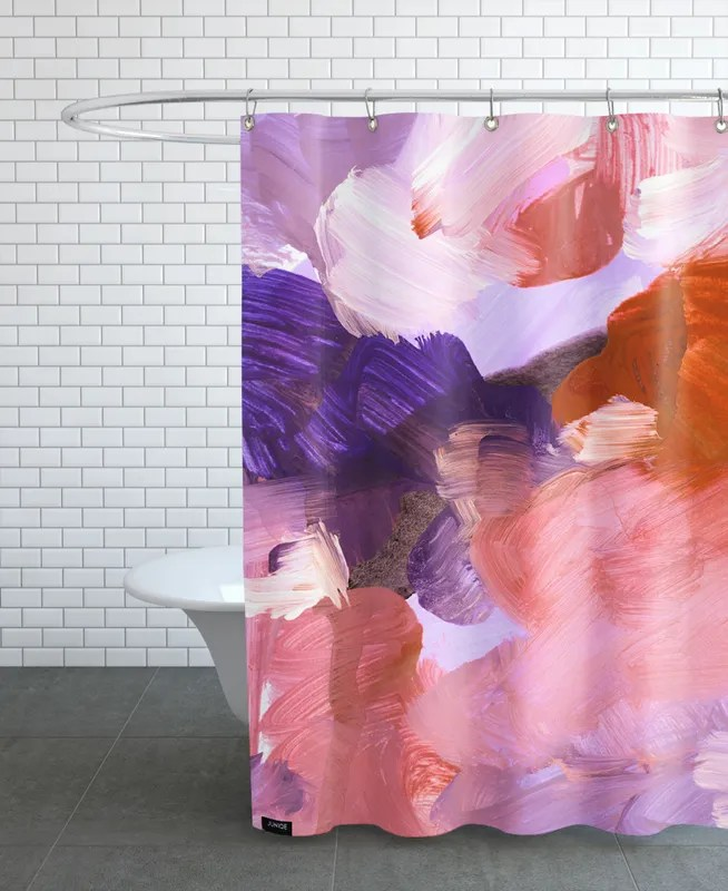 abstract painting v shower curtain