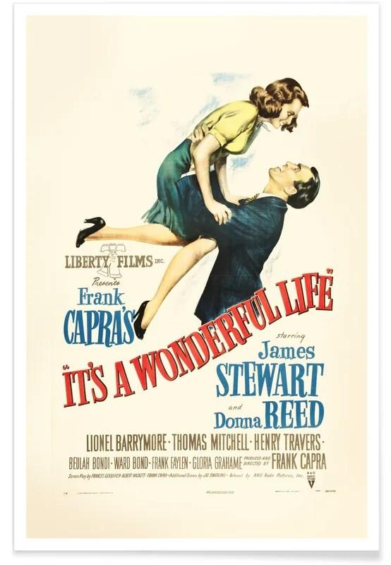 it s a wonderful life retro movie poster
