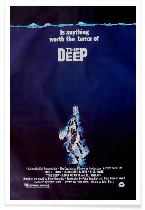 the deep retro movie poster