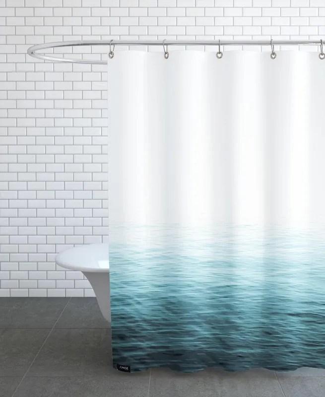 vast blue ocean shower curtain