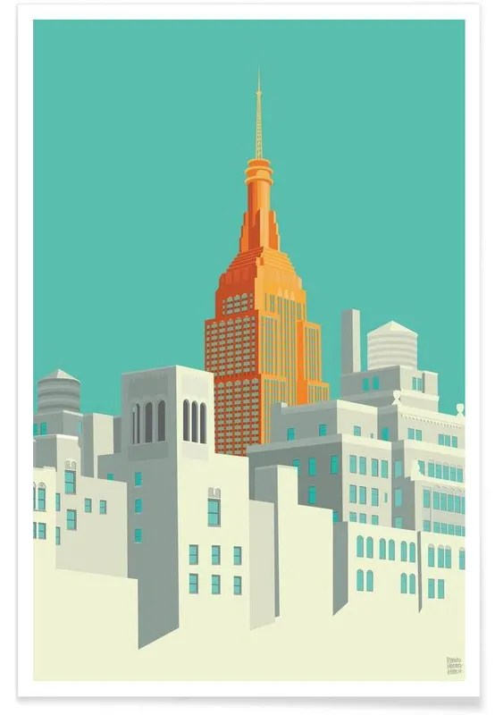 view from the high line new york city poster