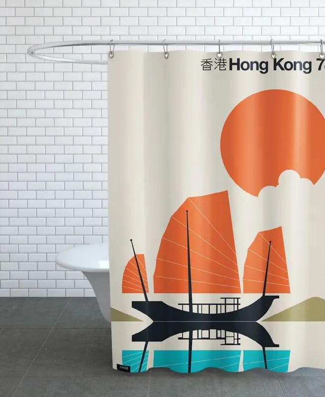 hong kong 78 shower curtain