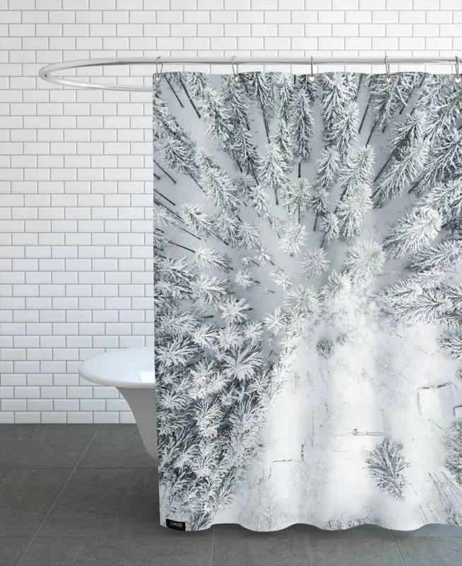 calm winter shower curtain