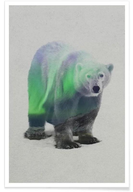 polar bear double exposure poster