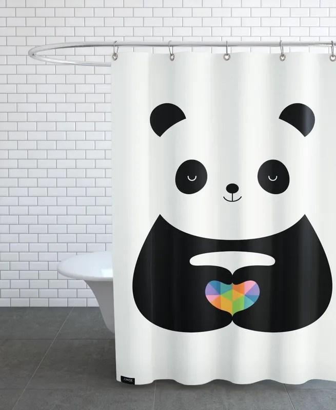 panda love shower curtain