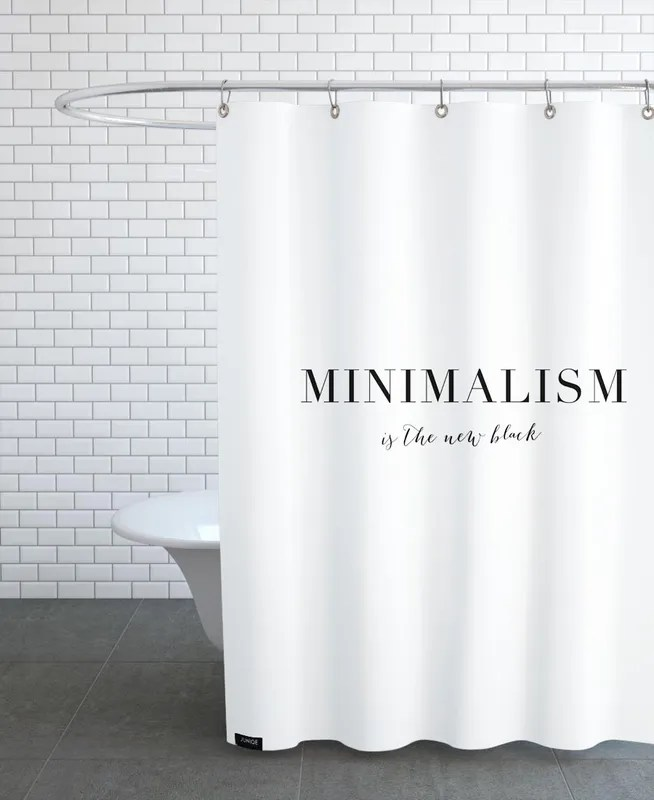 minimalism shower curtain