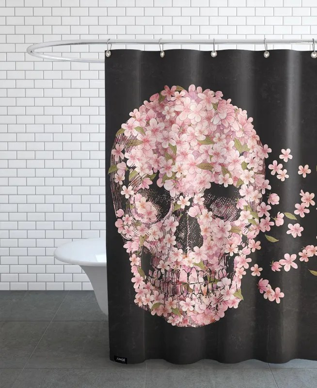 a beautiful death shower curtain