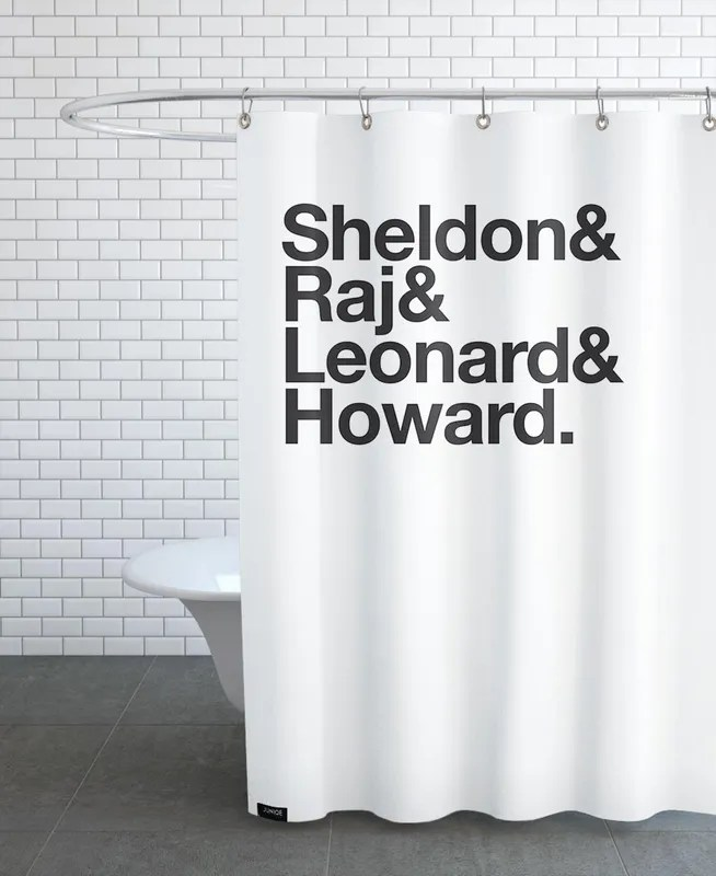 science heroes shower curtain