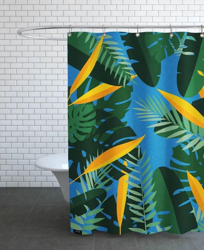 yoga jungle shower curtain
