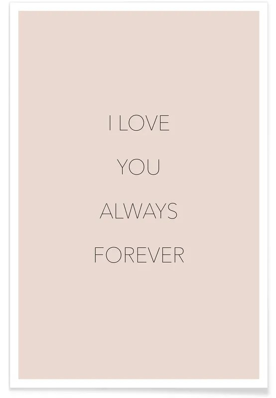 i love you always forever poster