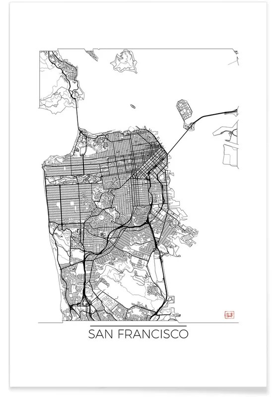 san francisco minimal map poster