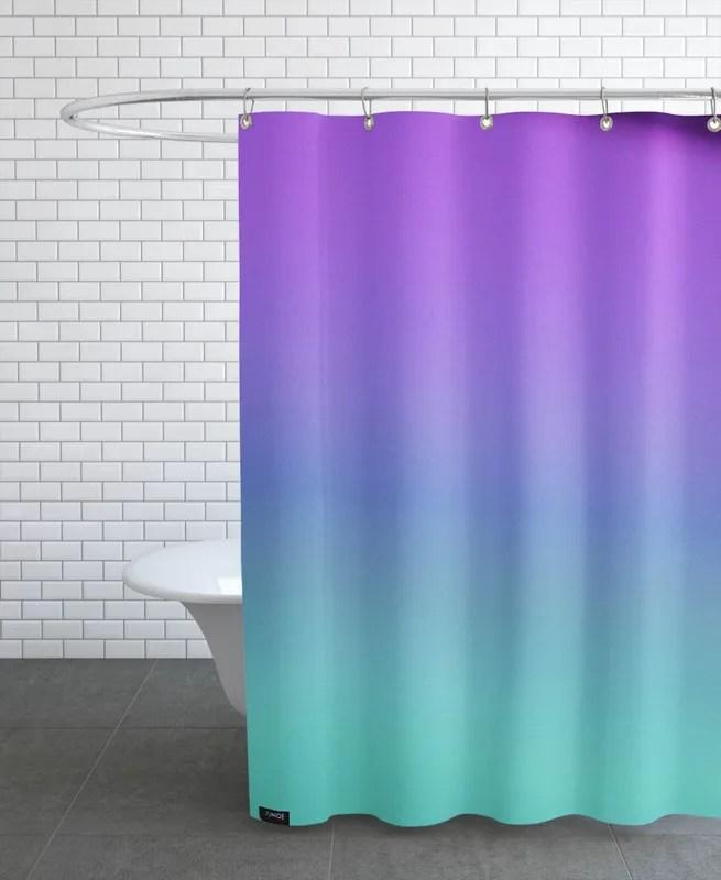 prism violet turquoise shower curtain