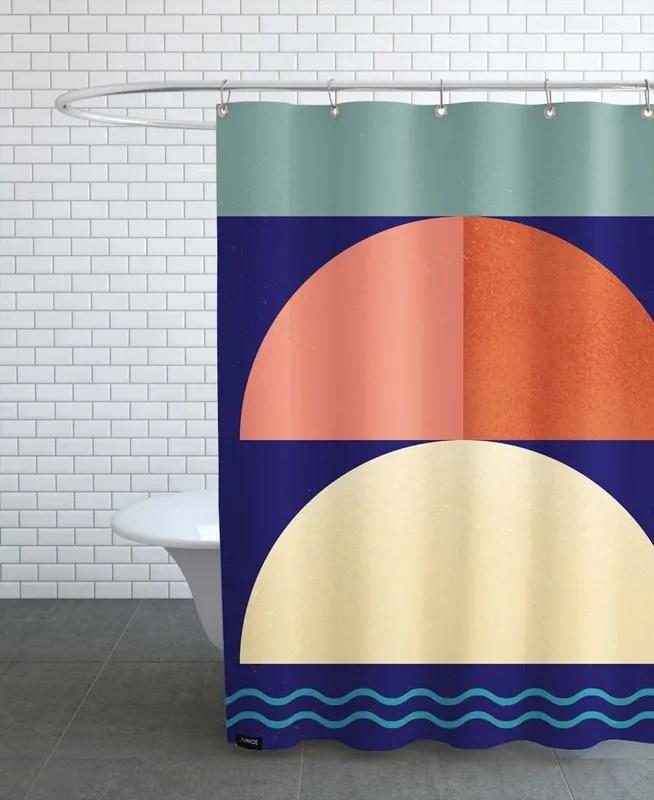 setting sun shower curtain