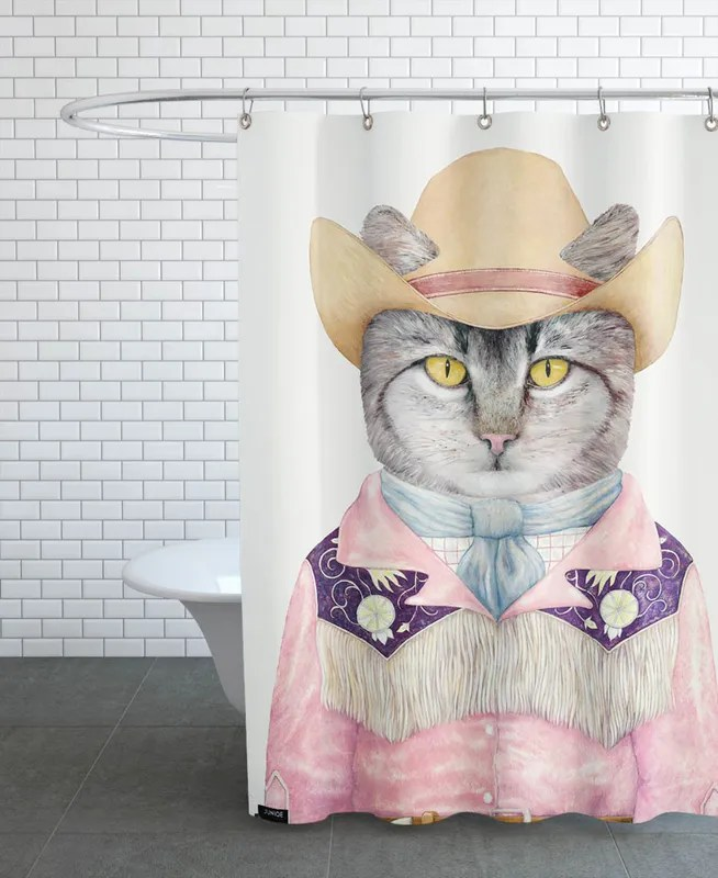 country cat shower curtain