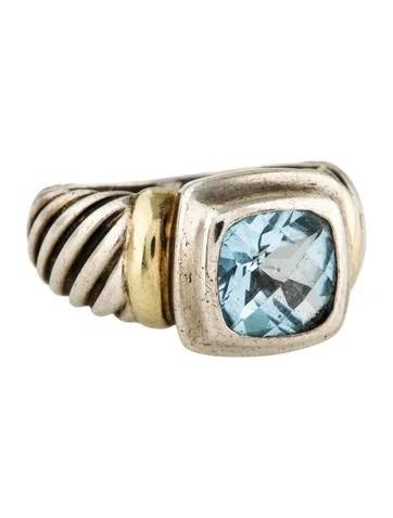 David Yurman Two Tone Topaz Noblesse Ring Rings