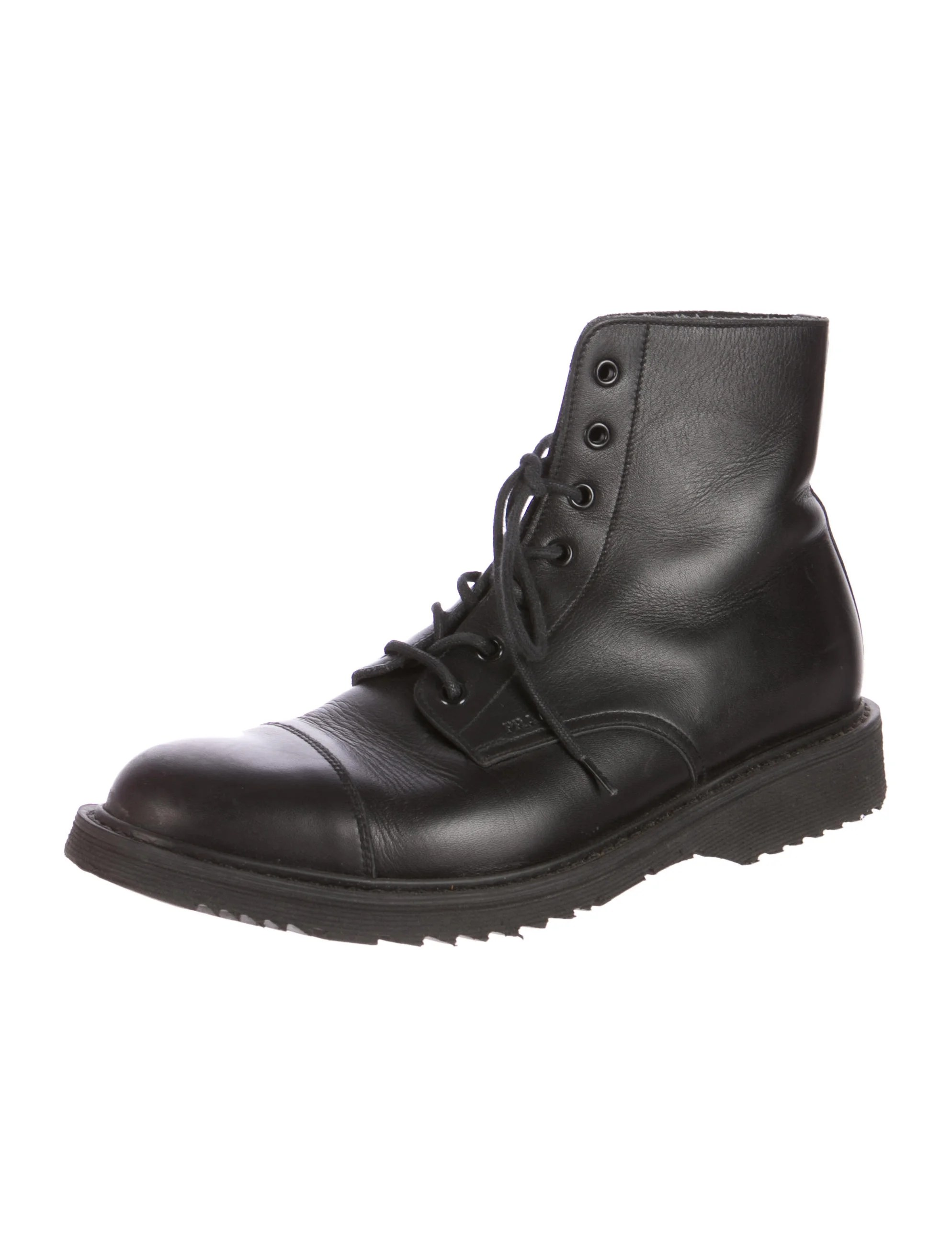 Boots Rubber Leather Real Soles Combat