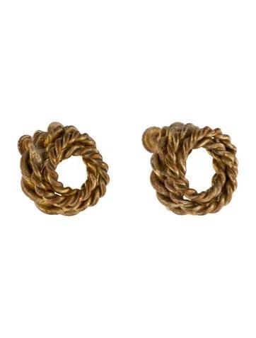 Miriam Haskell Twisted Circle Earrings Earrings