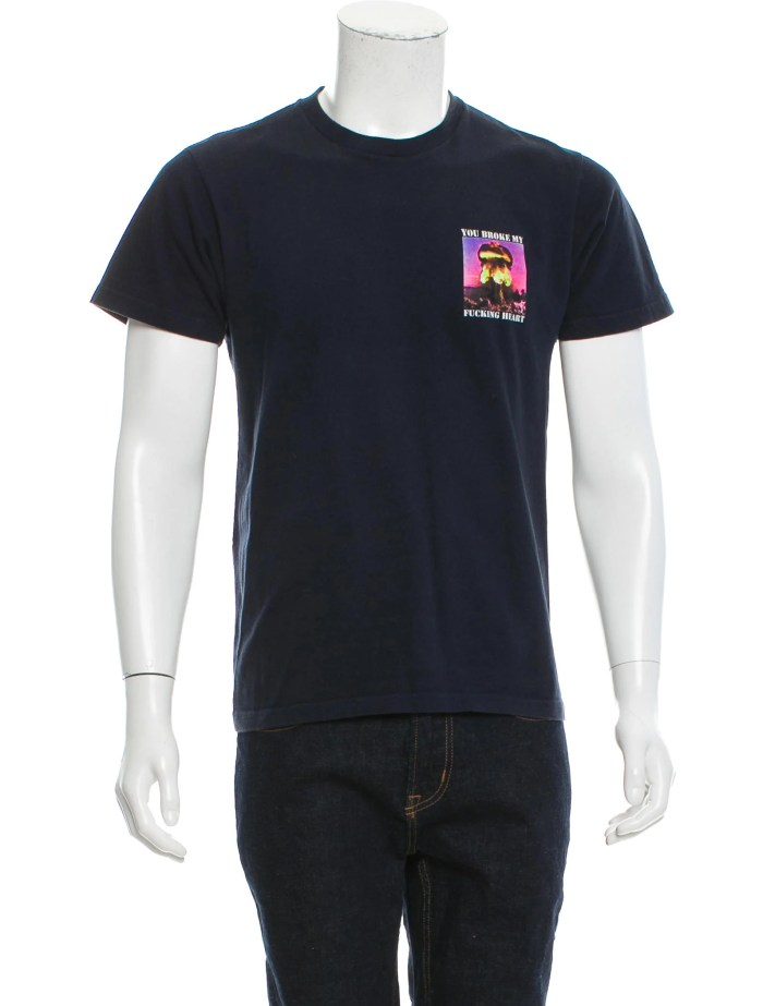 Supreme Graphic Print Crew Neck T-Shirt - Clothing