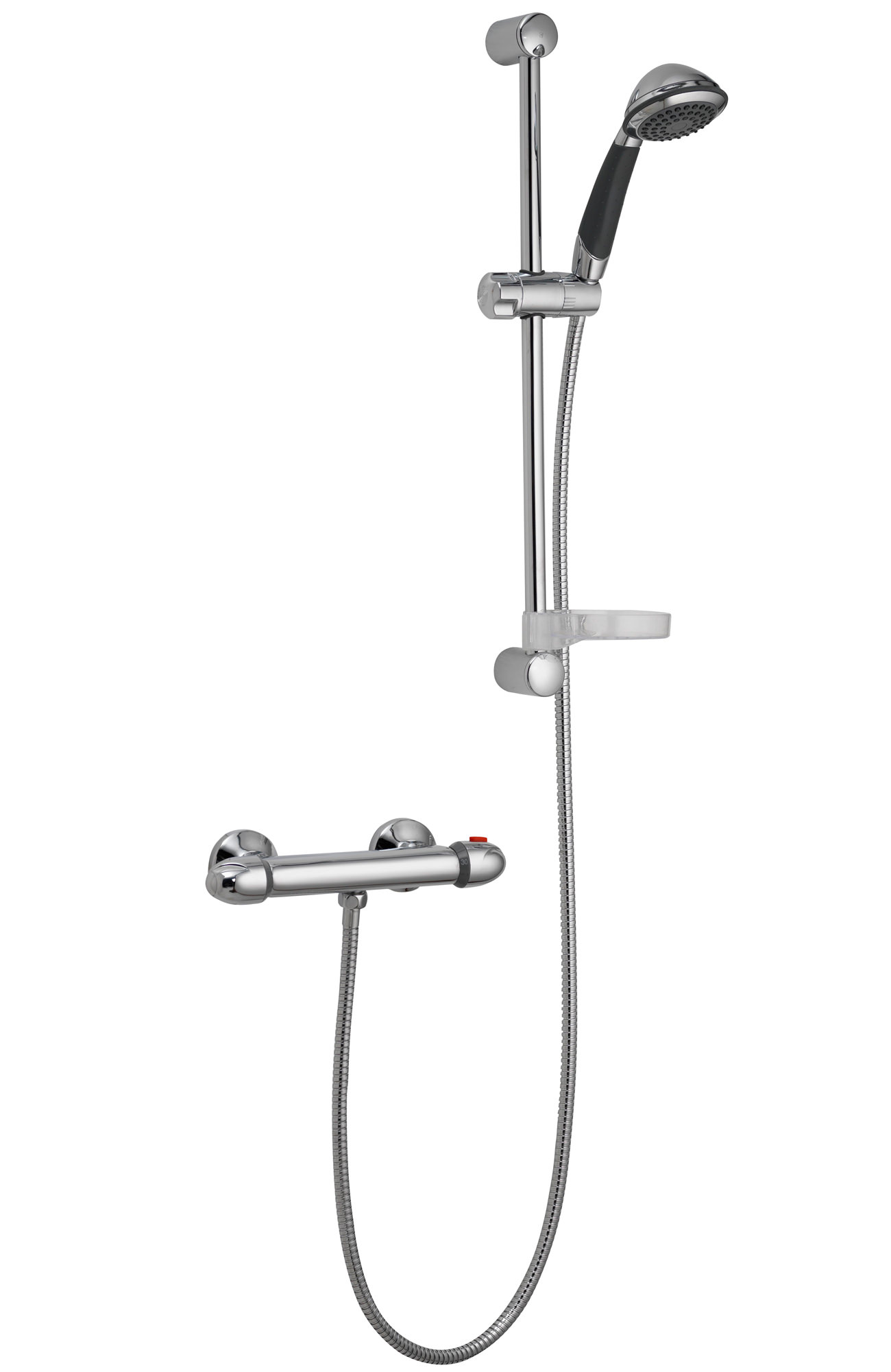 Pura Thermoforce 1 Round Exposed Shower Valve And Slide