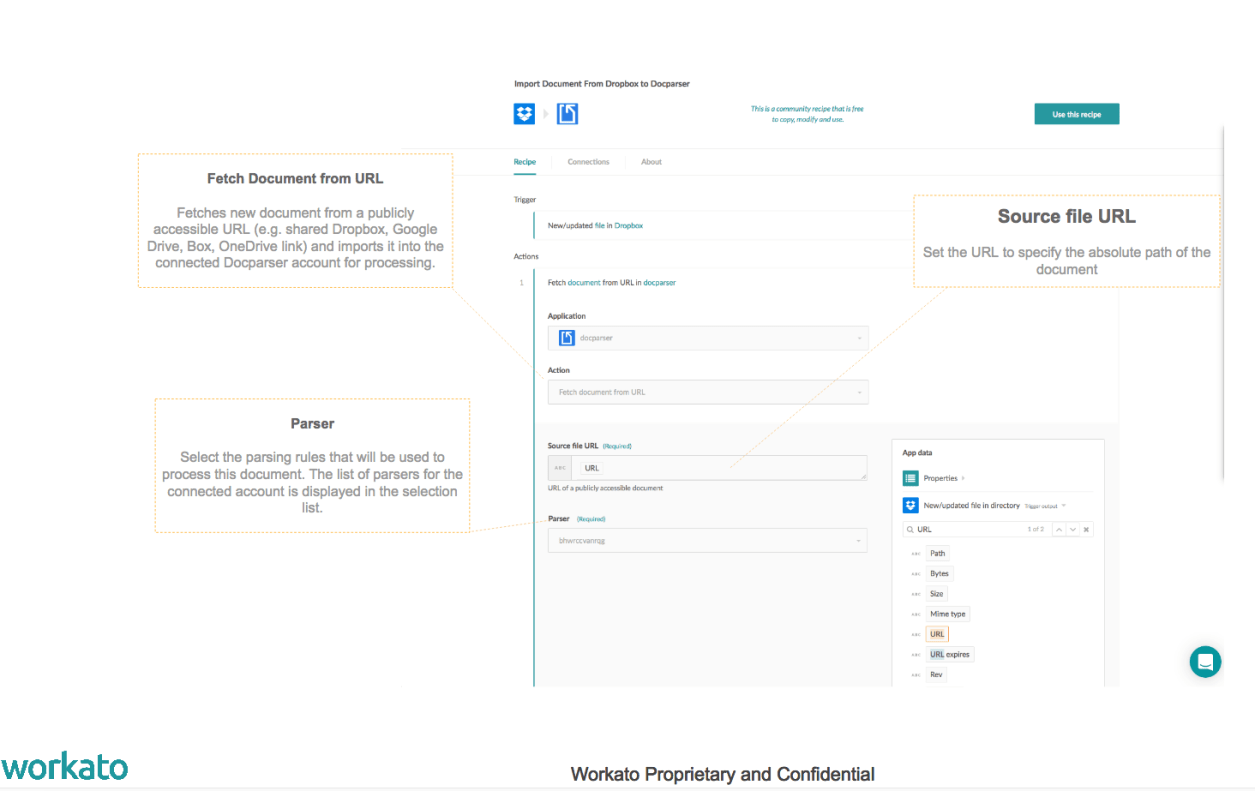 DocParser and Workato: Move Data from PDFs into Your Apps