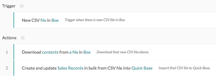 Bulk import CSV file to Quick Base