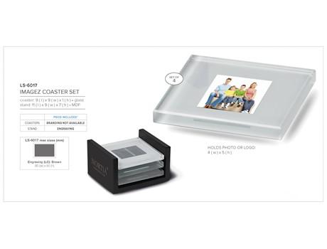 Imagez Glass Coaster Set  CODE:LS-6017