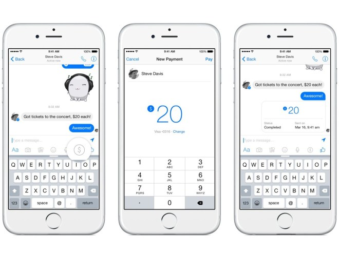 Facebook Messenger Pay