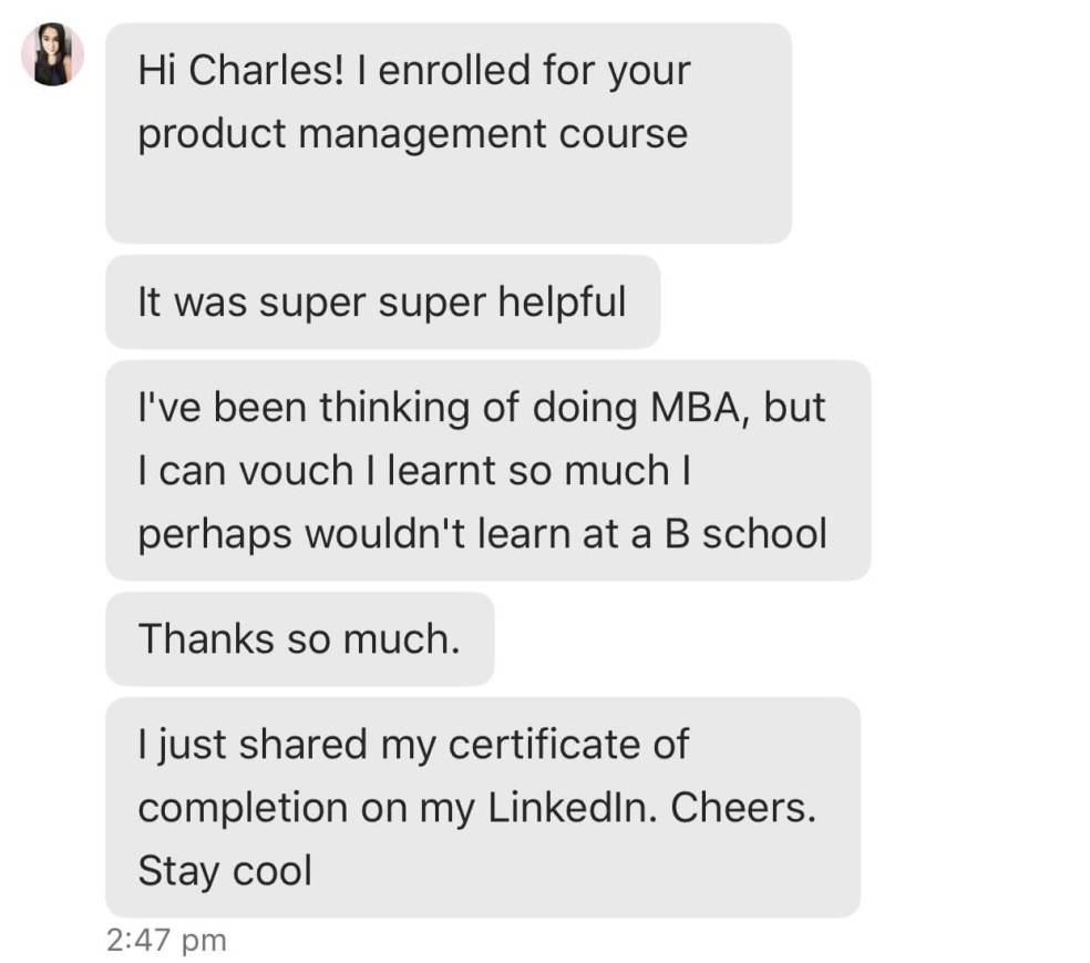 Product Management Course - productcharles com